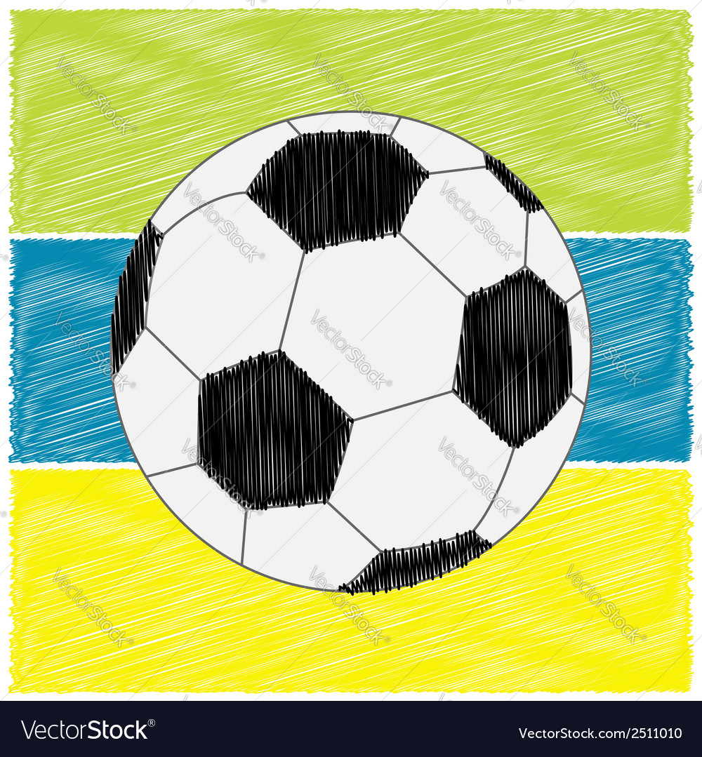 Football soccer ball strips scribble effect flat vector | Price: 1 Credit (USD $1)