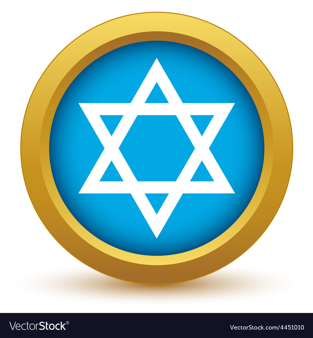 Gold judaism icon vector | Price: 1 Credit (USD $1)