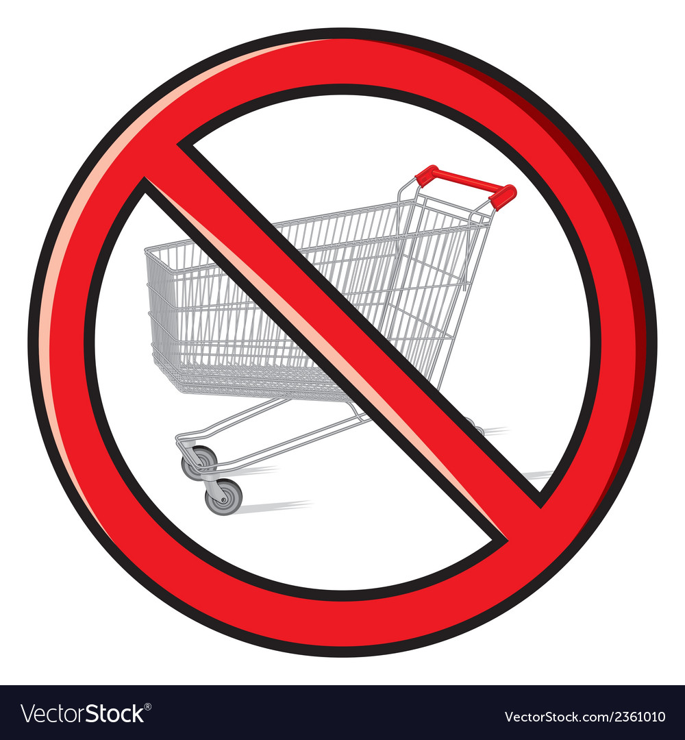 No shopping vector | Price: 1 Credit (USD $1)