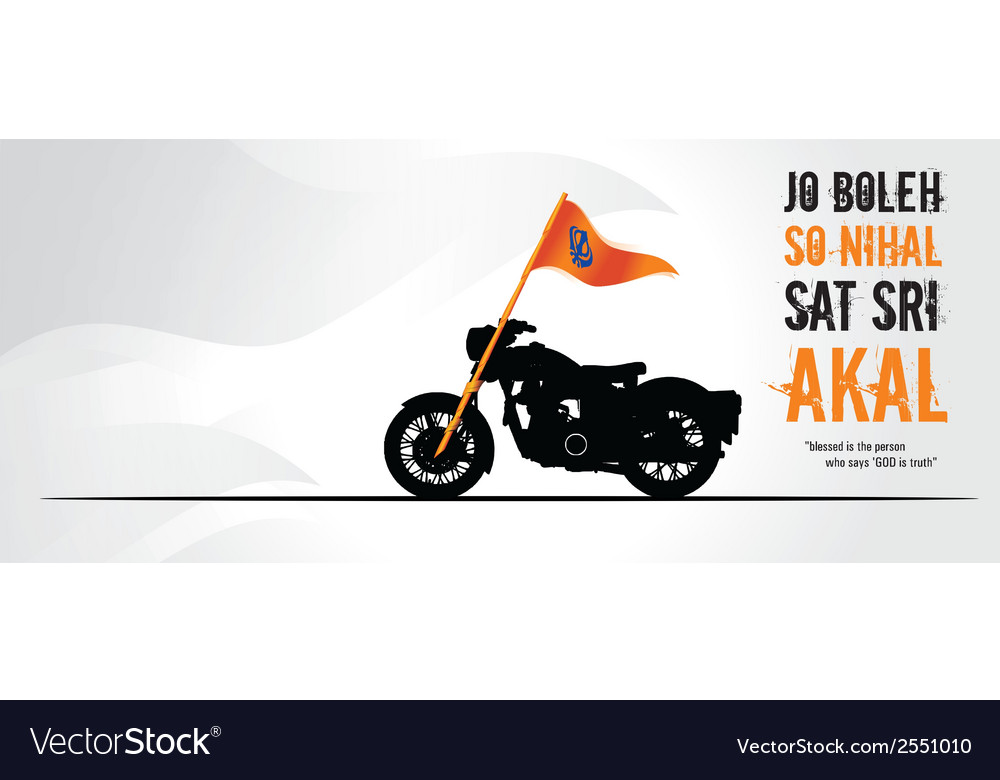 Sikh on bullet vector   Price: 1 Credit (USD $1)