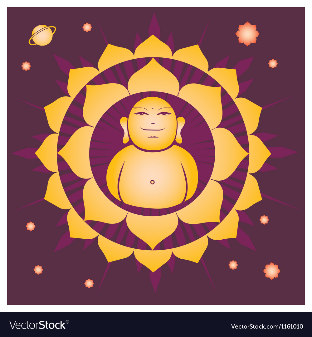 Spring lotus buddah yantra vector | Price: 1 Credit (USD $1)