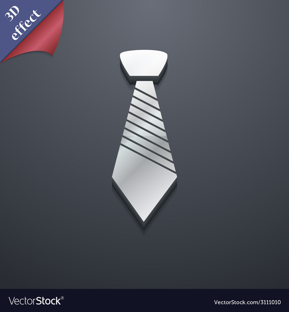 Tie icon symbol 3d style trendy modern design with vector | Price: 1 Credit (USD $1)