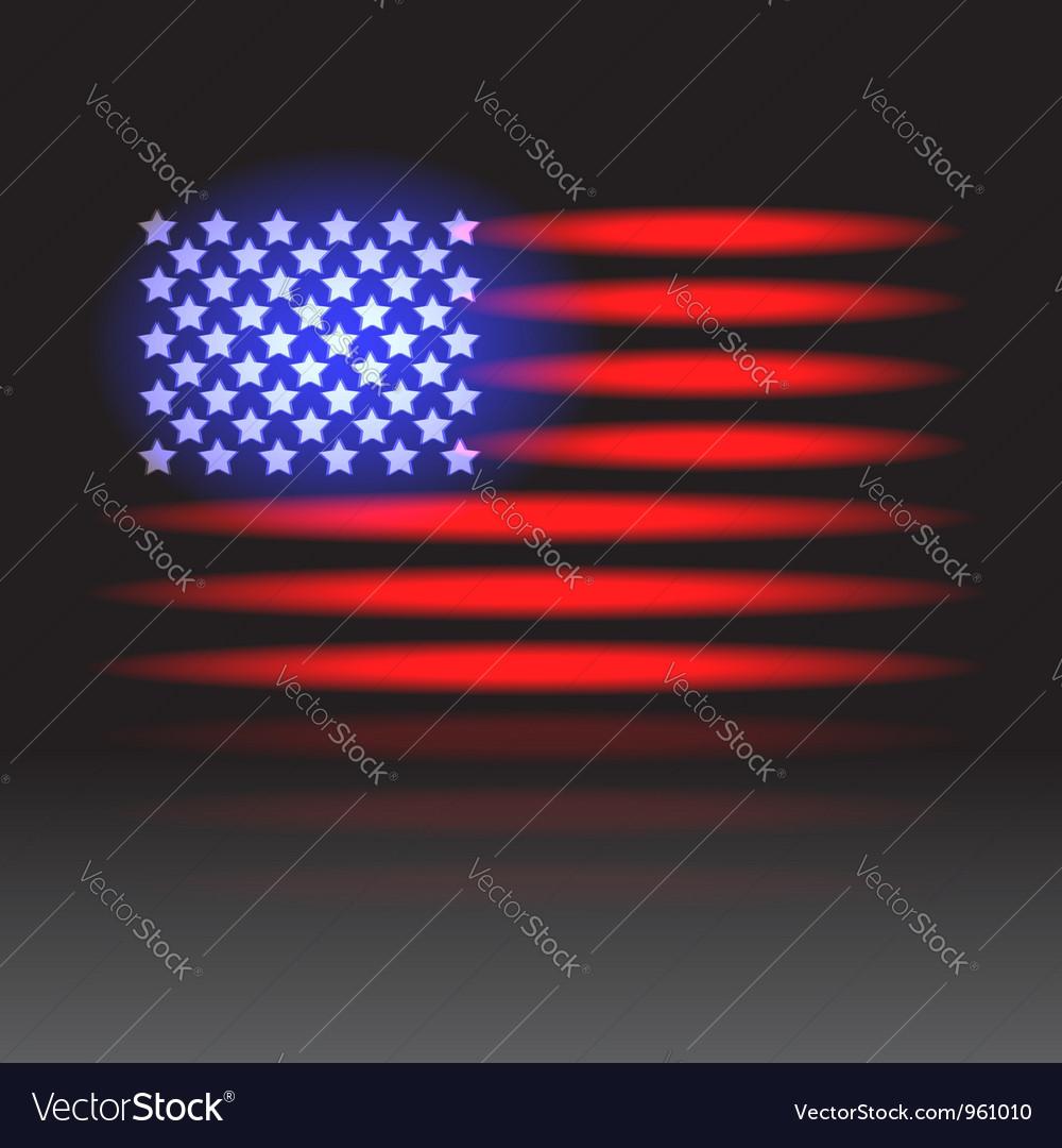 Usa flag neon vector | Price: 1 Credit (USD $1)