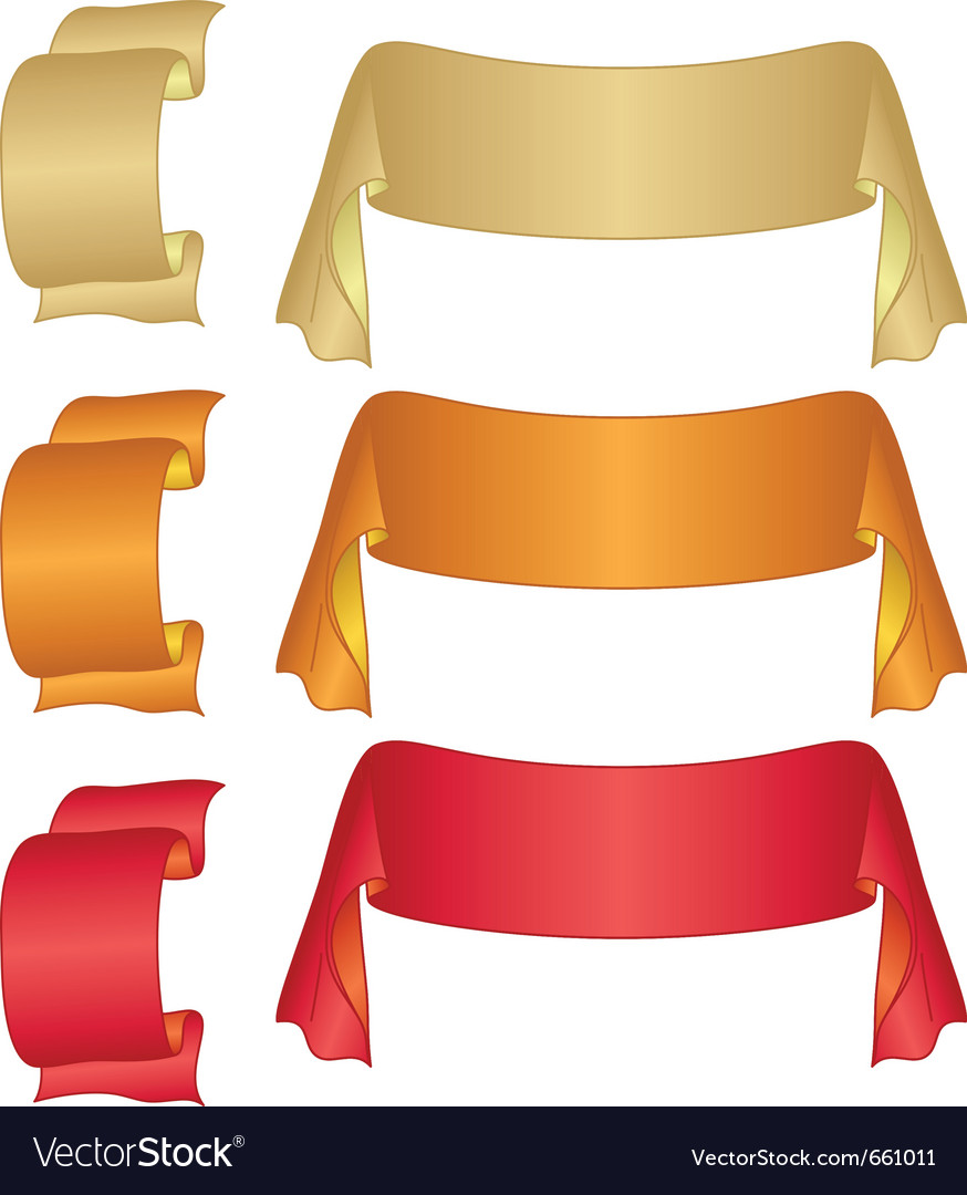 Banners ribbons set vector | Price: 1 Credit (USD $1)