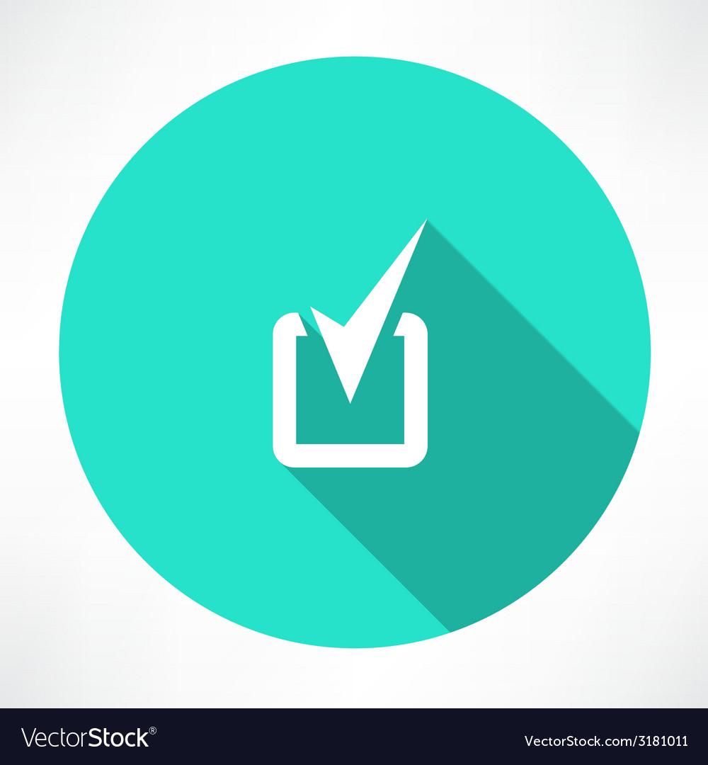 Checkmark icon vector | Price: 1 Credit (USD $1)