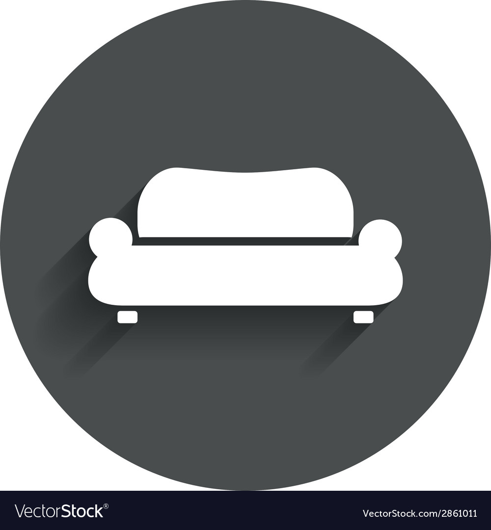 Comfortable sofa icon modern couch symbol vector | Price: 1 Credit (USD $1)