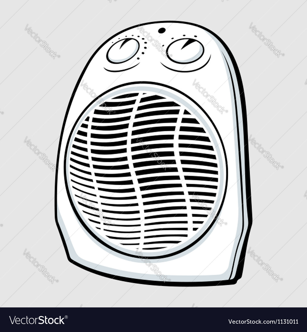 Fan heater vector | Price: 1 Credit (USD $1)