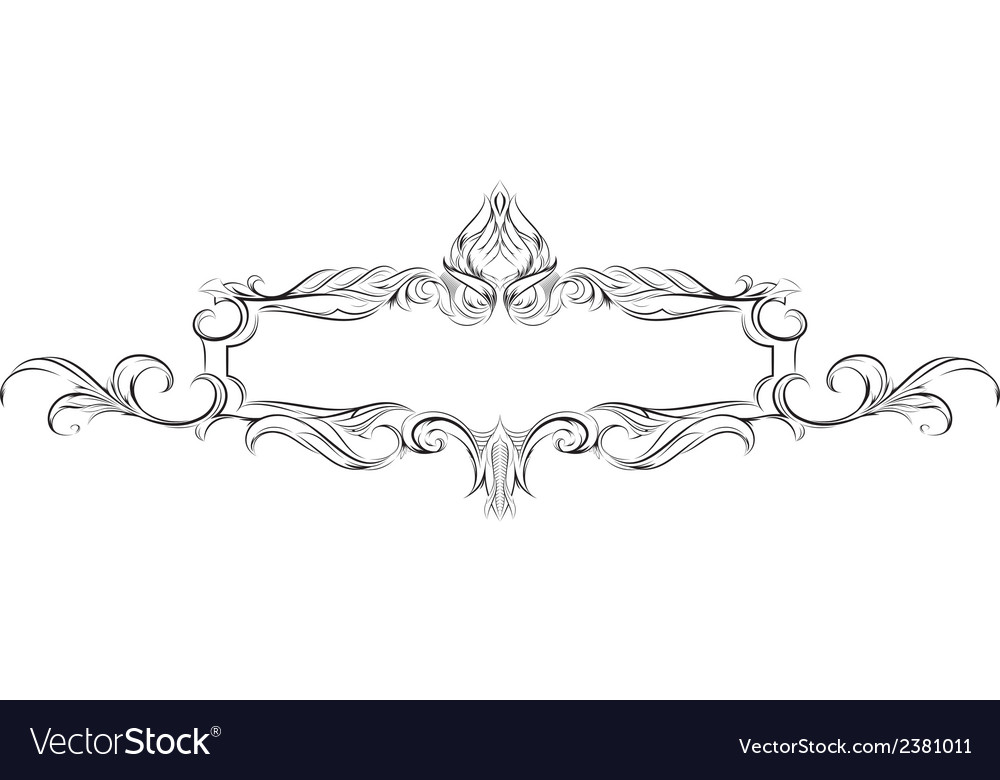 Frame with floral elements for registration vector | Price: 1 Credit (USD $1)