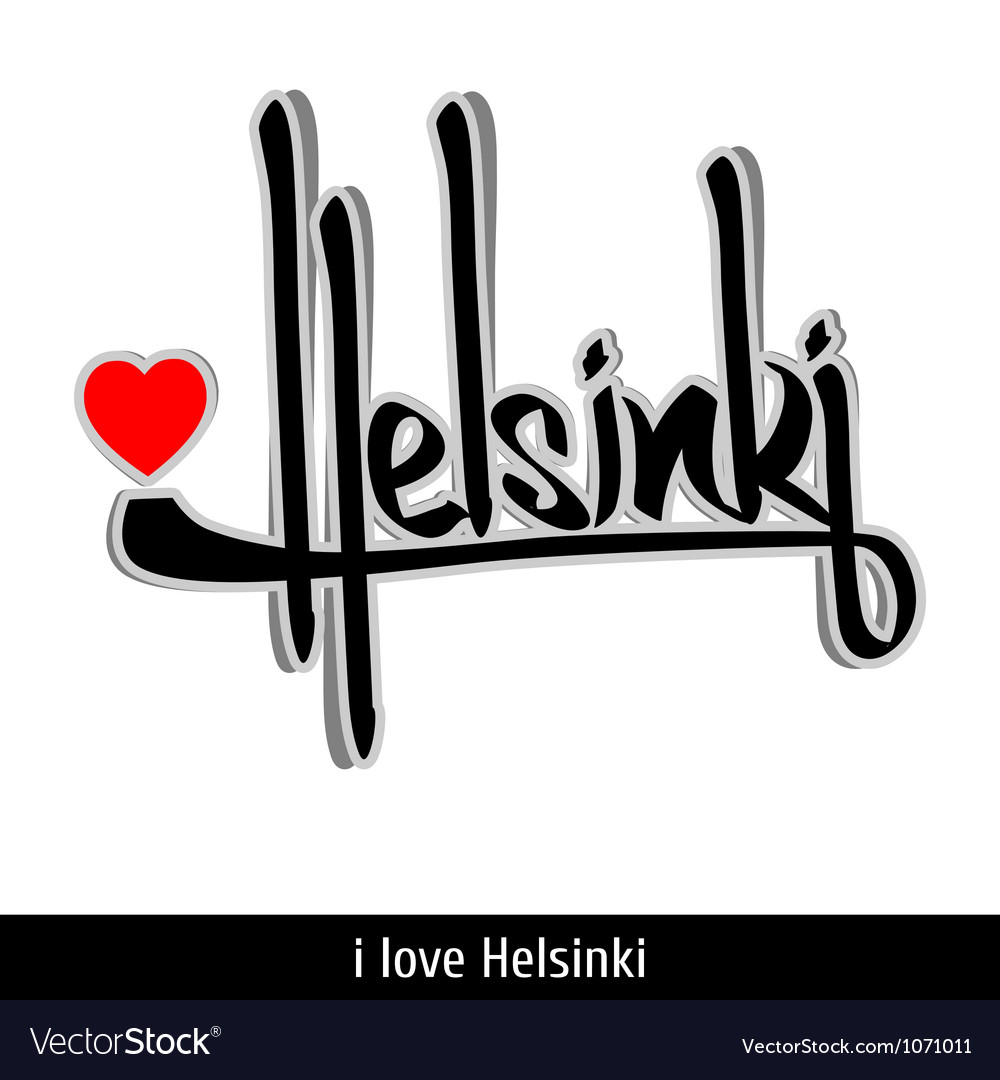 Helsinki greetings hand lettering calligraphy vector   Price: 1 Credit (USD $1)