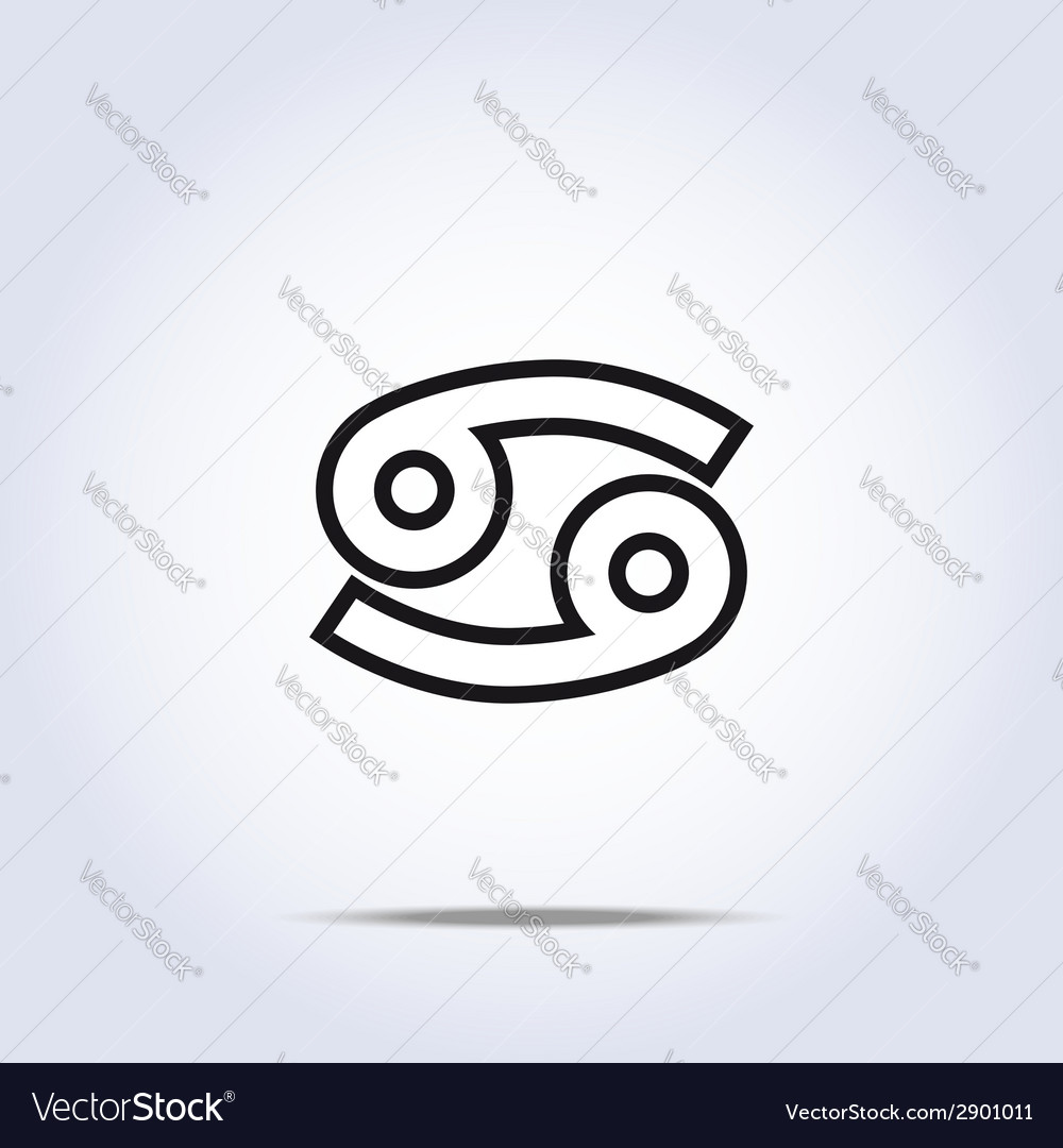 Horoscope sign of the zodiac cancer vector | Price: 1 Credit (USD $1)