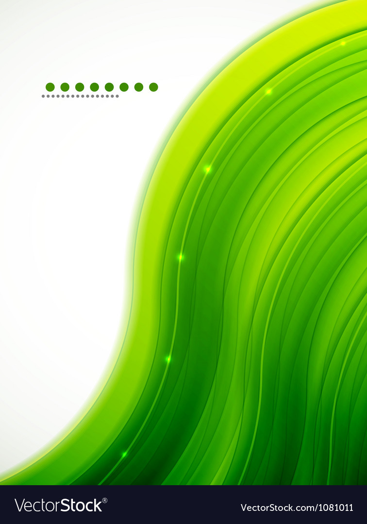 Light glittering green wave background vector | Price: 1 Credit (USD $1)