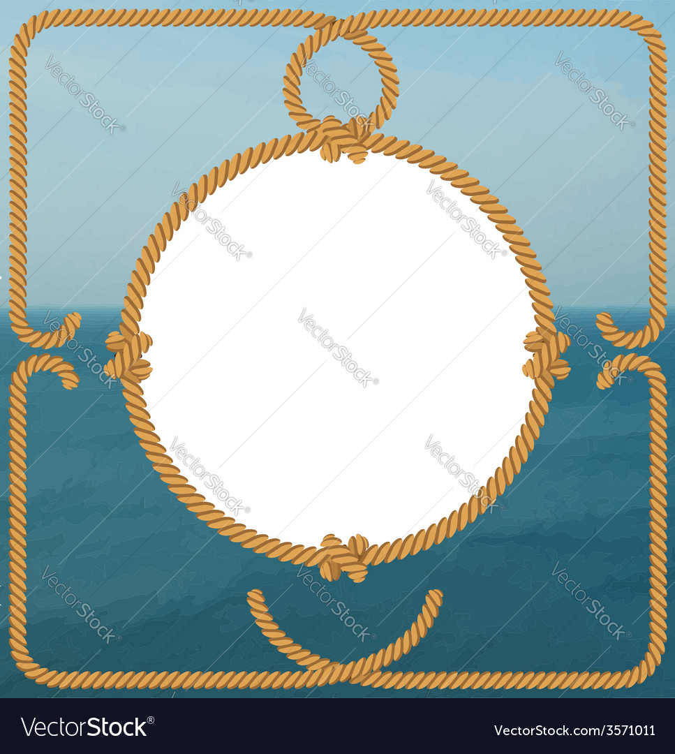 Sea frame with rope vector | Price: 1 Credit (USD $1)
