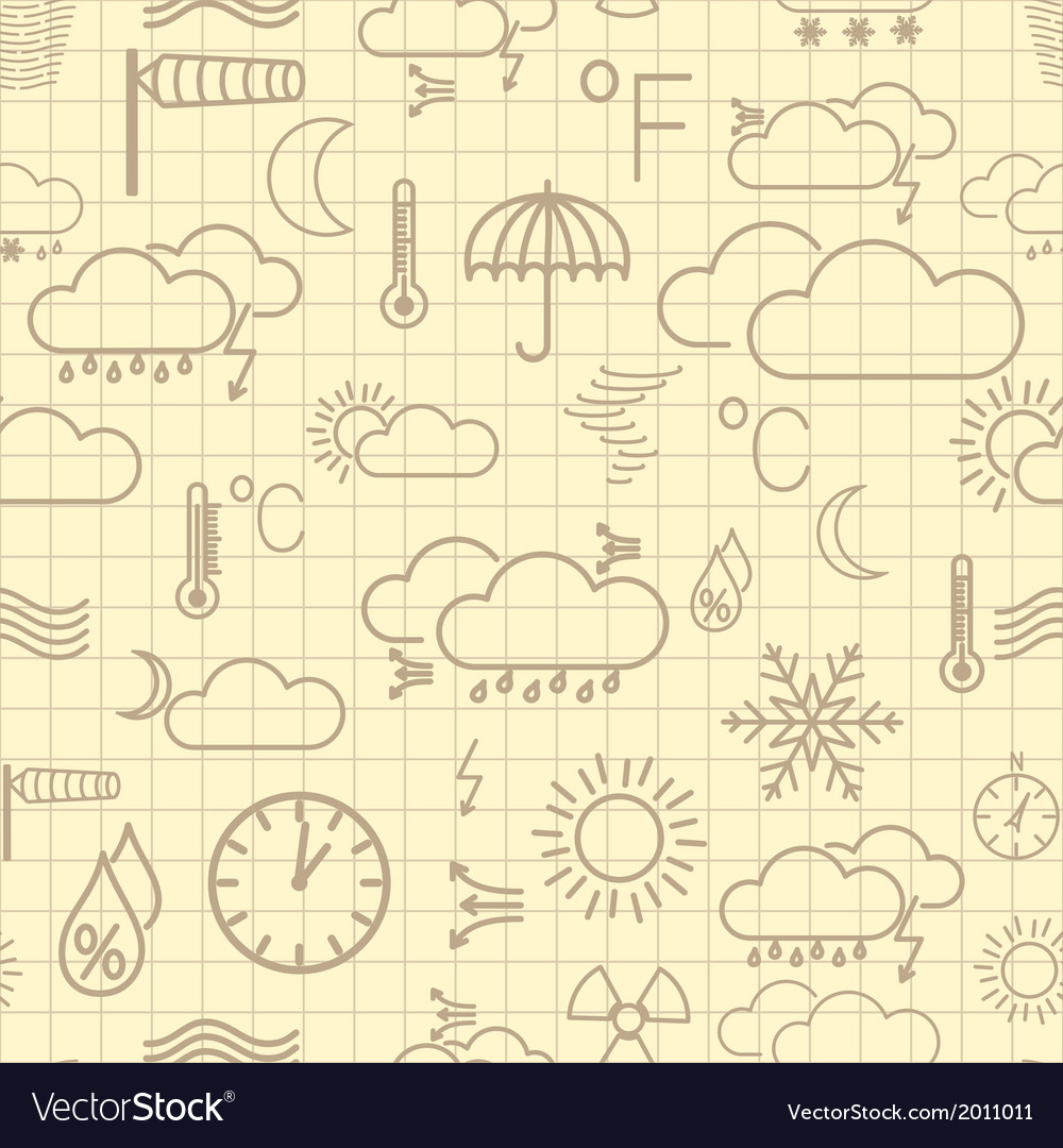 Seamless pattern of weather symbols vector | Price: 1 Credit (USD $1)