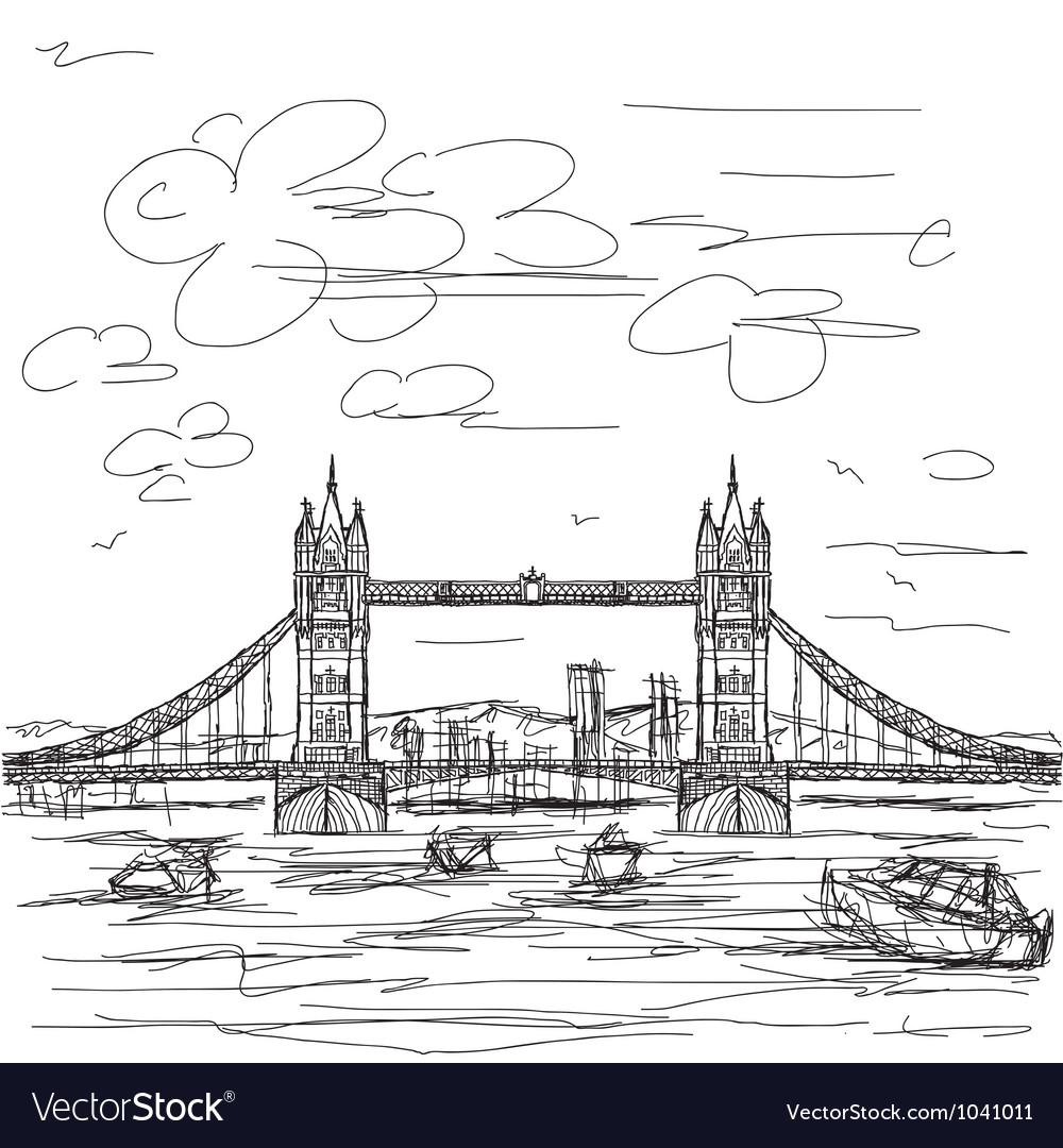 Tower bridge vector | Price: 1 Credit (USD $1)