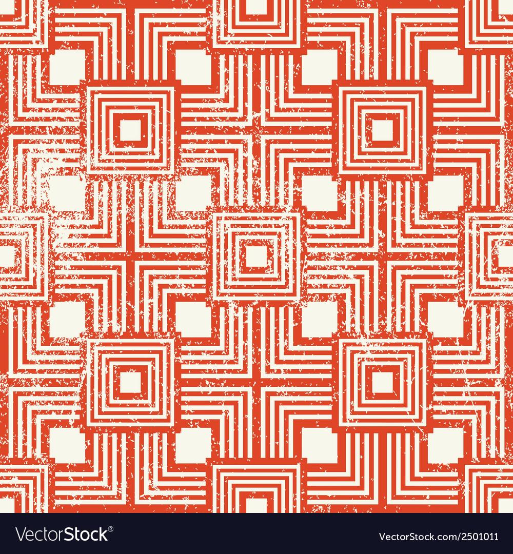 Vintage style geometric seamless background retro vector | Price: 1 Credit (USD $1)