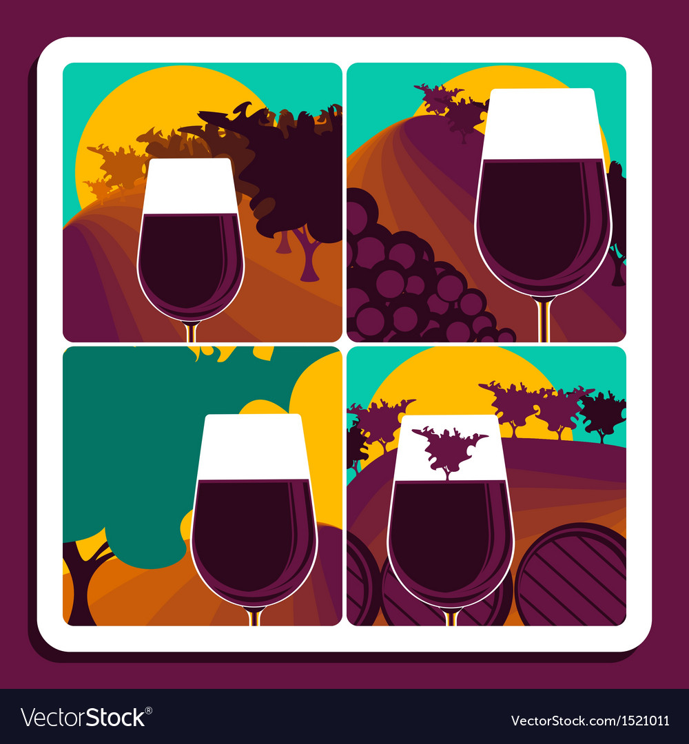 Viticulture and wine vector | Price: 1 Credit (USD $1)