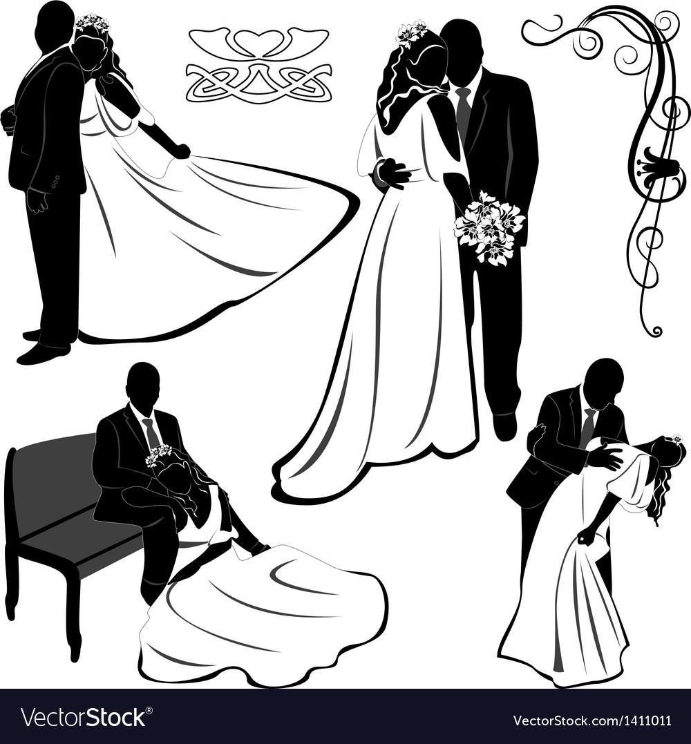 Wedding pairs vector   Price: 1 Credit (USD $1)