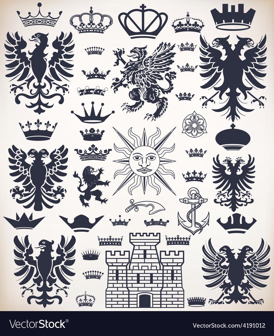 0000 heraldicset vector | Price: 1 Credit (USD $1)