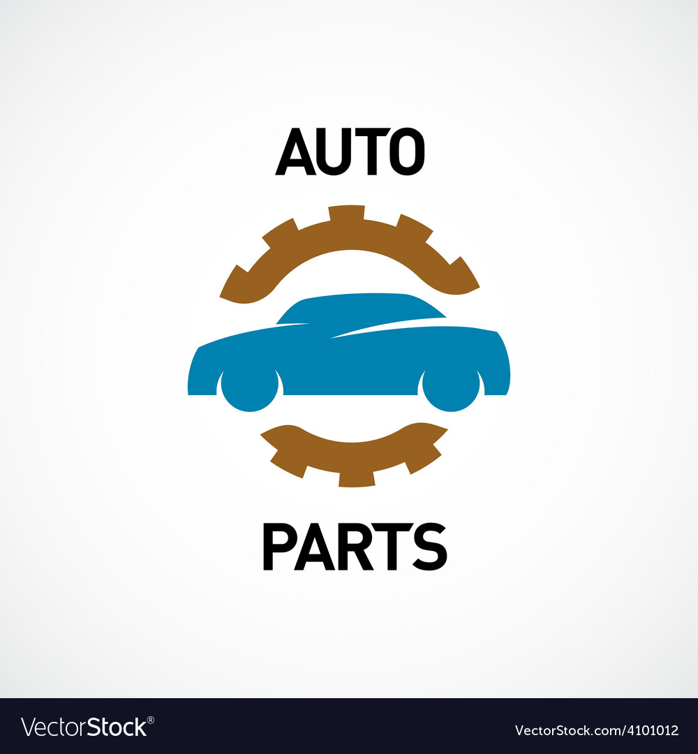 Auto parts logo template car silhouette with gear vector   Price: 1 Credit (USD $1)