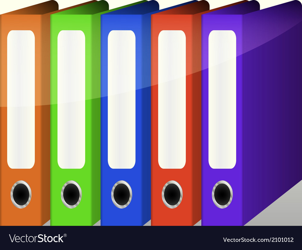 Colorful binders vector | Price: 1 Credit (USD $1)