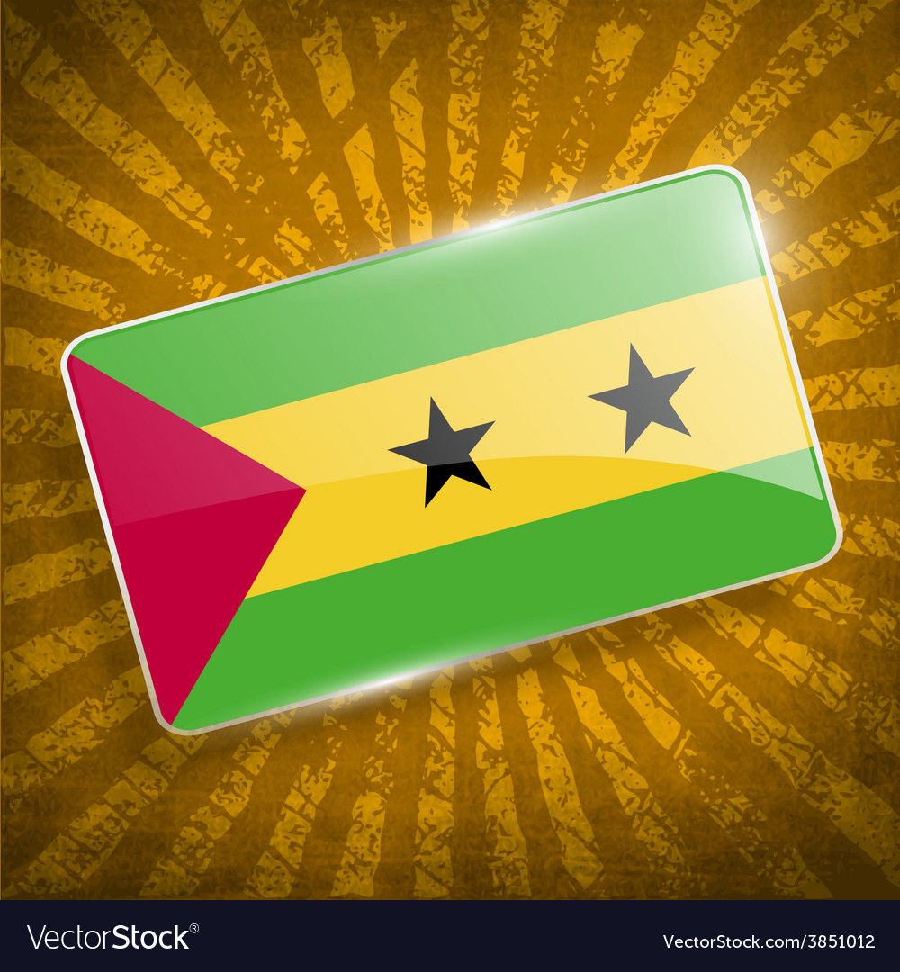 Flag of sao tome and principe with old texture vector | Price: 1 Credit (USD $1)