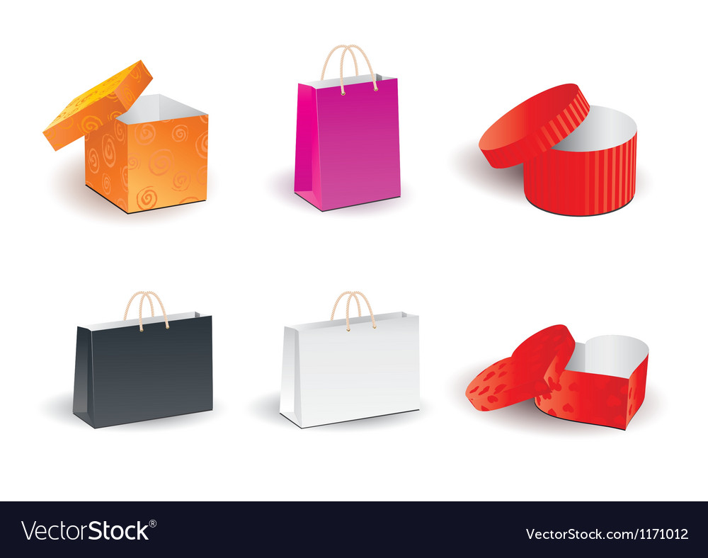 Gift shopping boxes vector | Price: 1 Credit (USD $1)