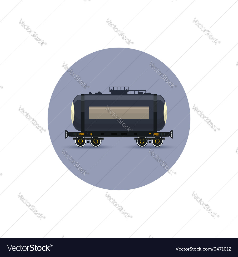 Icon railway car the tank for transportation vector | Price: 1 Credit (USD $1)