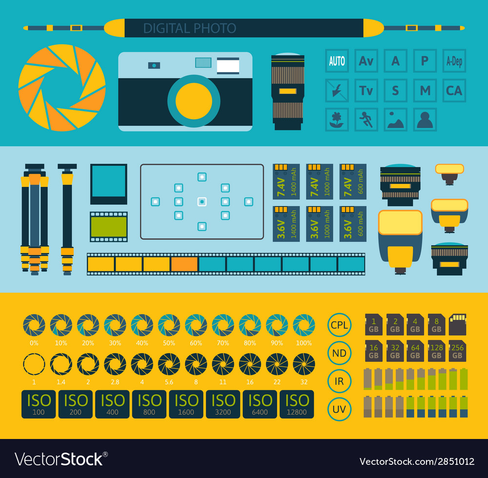 Photo infographics set part one vector | Price: 1 Credit (USD $1)
