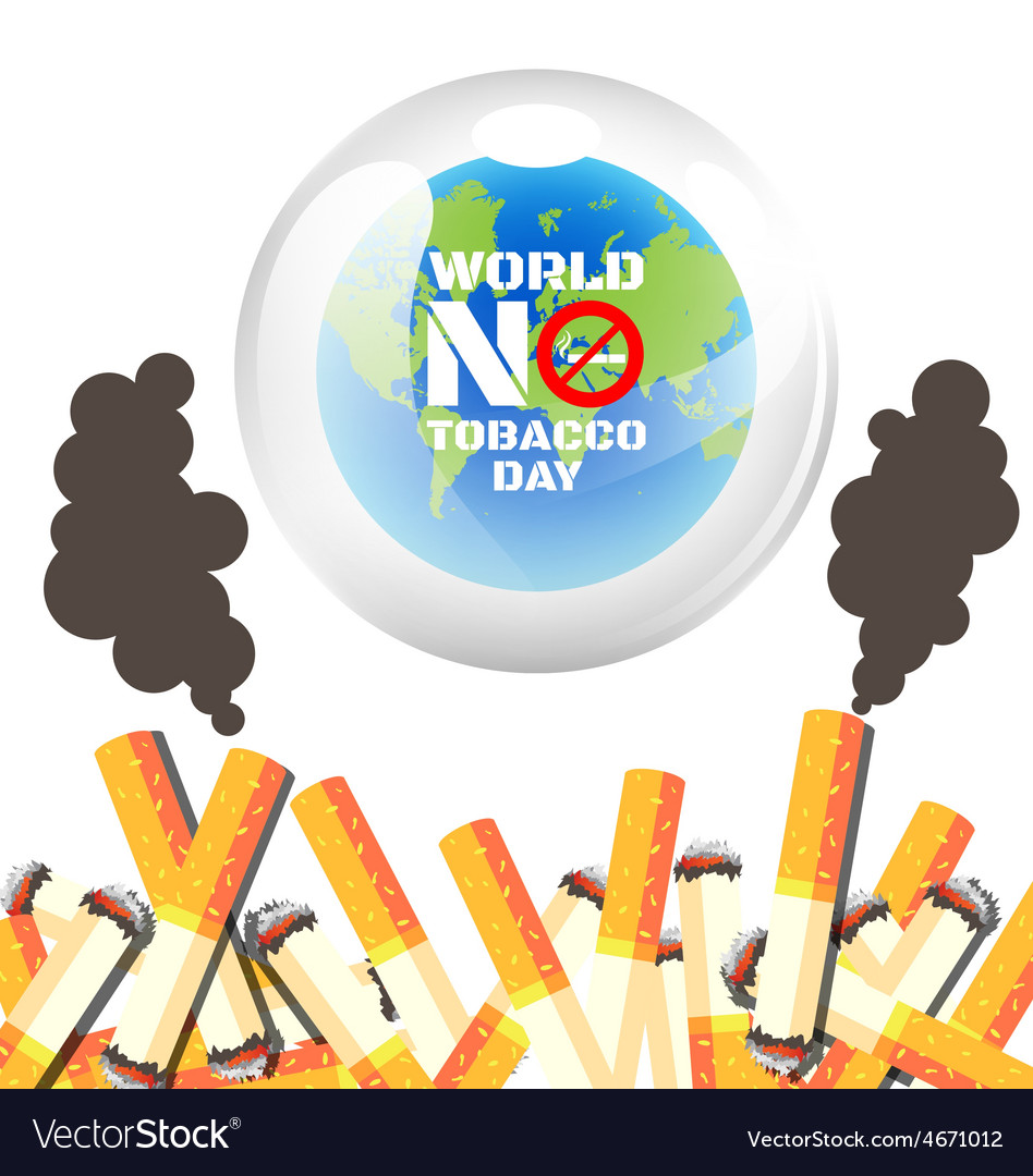 World no tobacco day poster vector | Price: 1 Credit (USD $1)