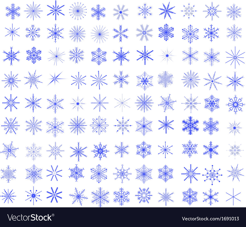 99 snowflakes vector | Price: 1 Credit (USD $1)