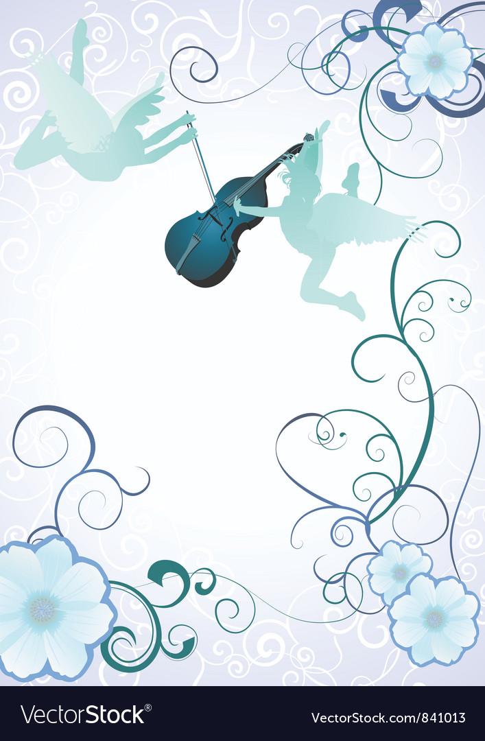 Angels violin vector | Price: 1 Credit (USD $1)