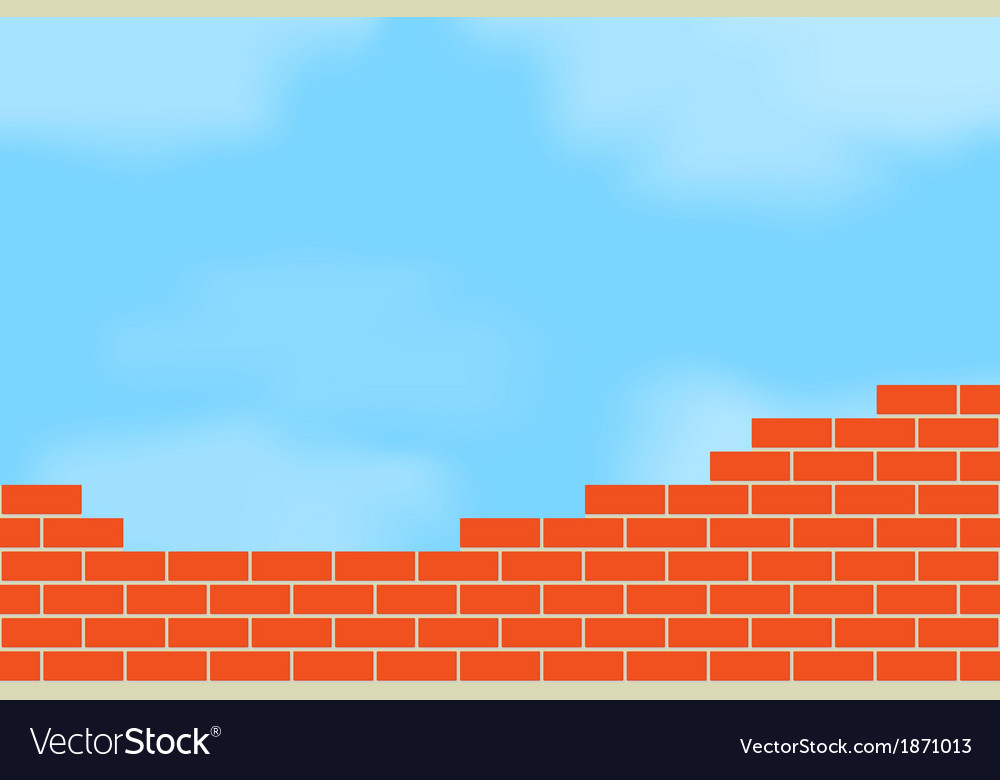 Brickwork against the sky vector | Price: 1 Credit (USD $1)