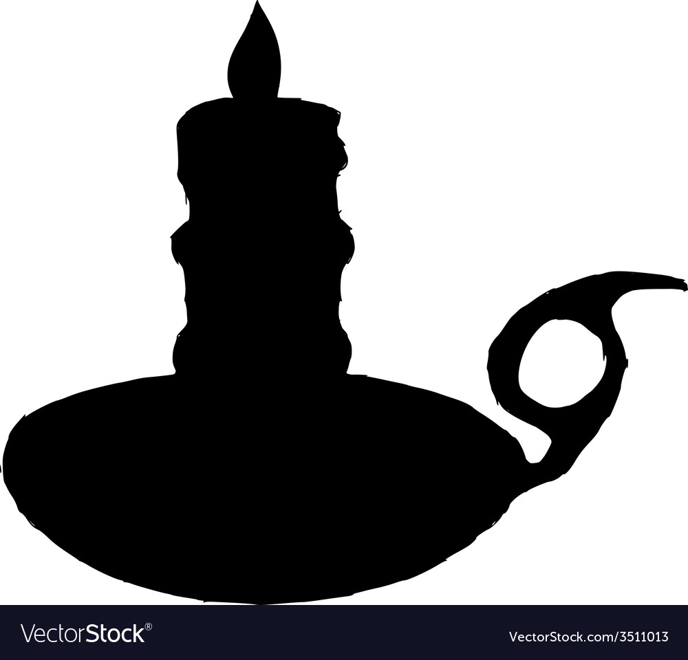 Candlestick mantel vector | Price: 1 Credit (USD $1)
