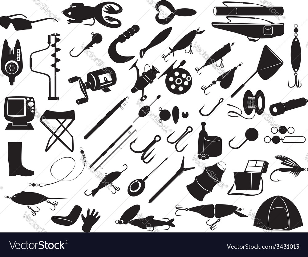 Equipment for fishing vector | Price: 1 Credit (USD $1)