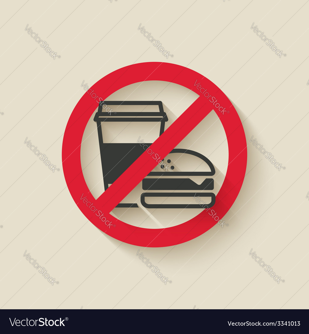 Fast food no sign vector | Price: 1 Credit (USD $1)