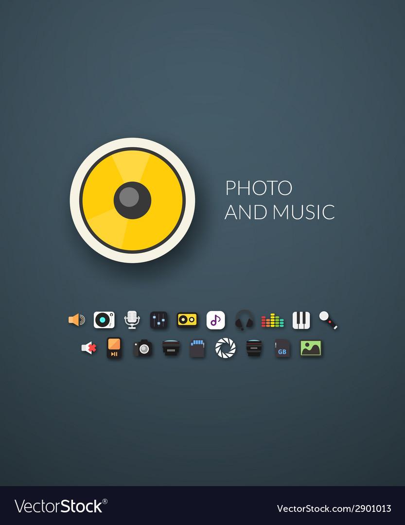Flat design modern of brand identity style vector | Price: 1 Credit (USD $1)