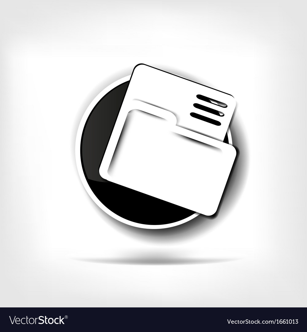 Folder web icon vector | Price: 1 Credit (USD $1)