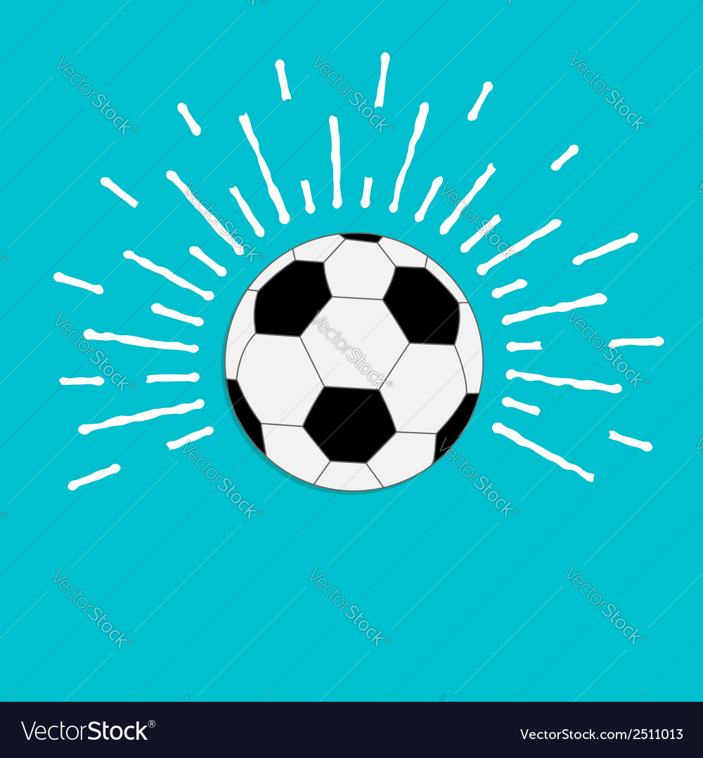 Football soccer ball with ray of light sunlight vector | Price: 1 Credit (USD $1)