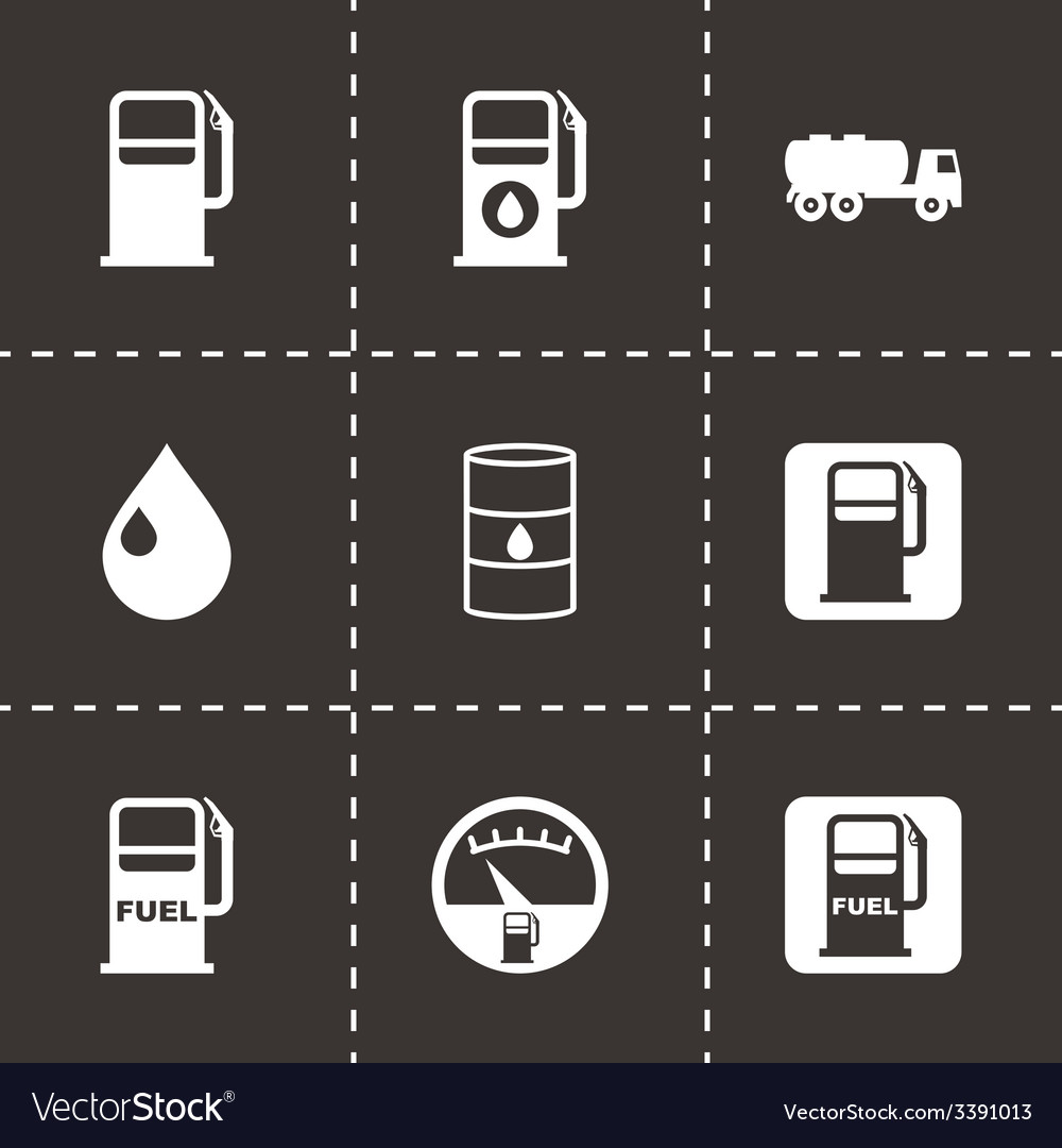 Gas station icon set vector | Price: 1 Credit (USD $1)