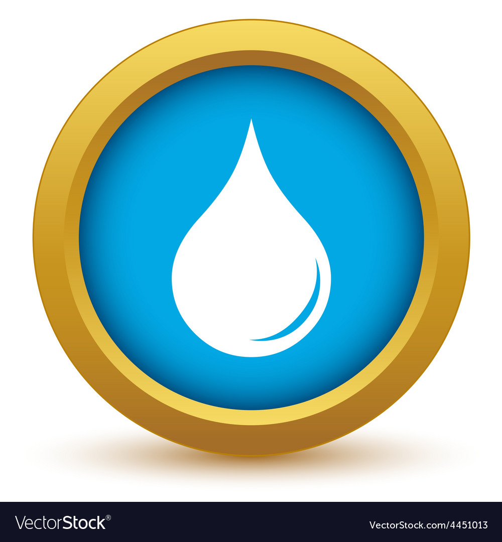 Gold drop icon vector | Price: 1 Credit (USD $1)