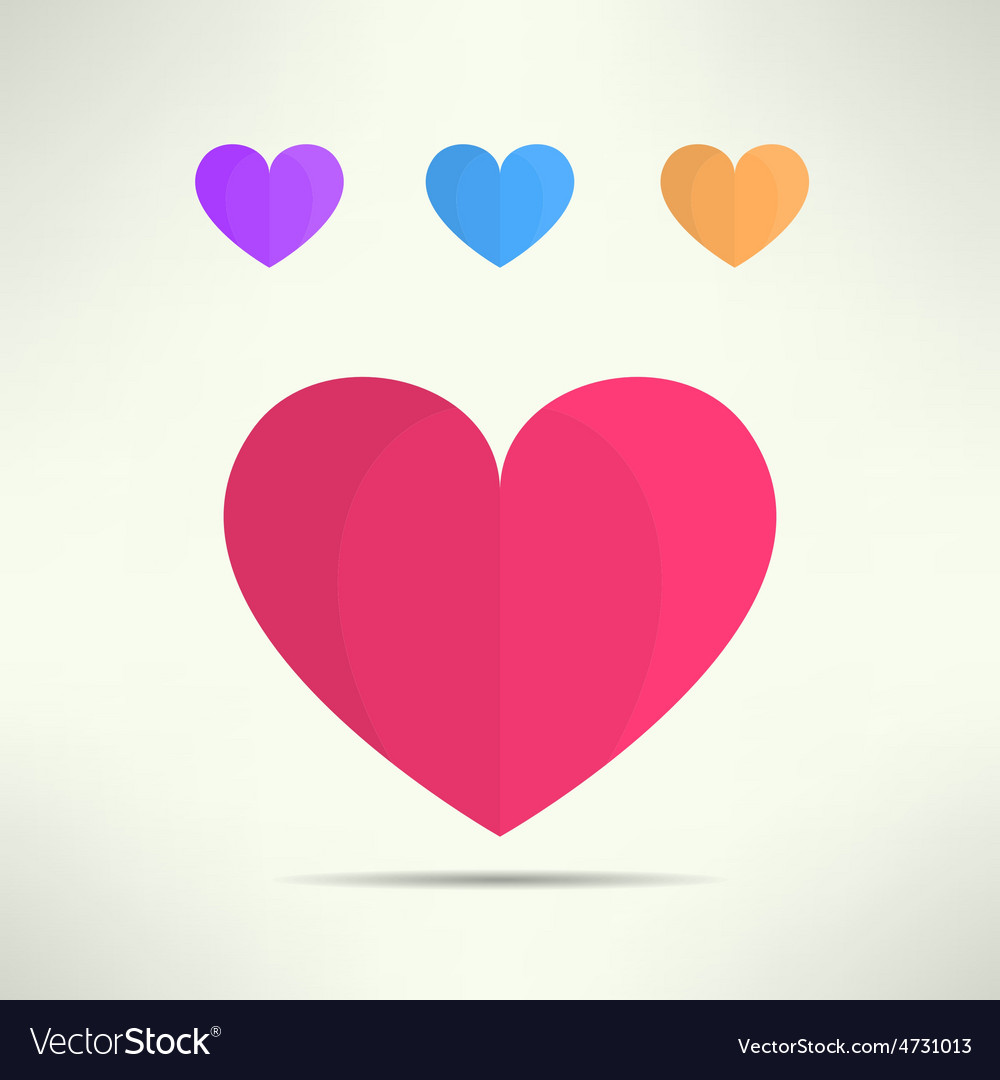 Heart icon in modern geometrical design vector | Price: 1 Credit (USD $1)