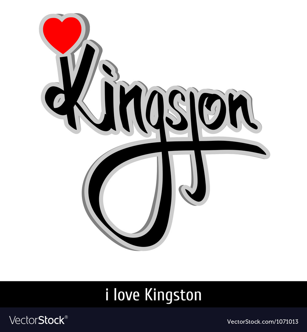 Kingston greetings hand lettering calligraphy vector | Price: 1 Credit (USD $1)