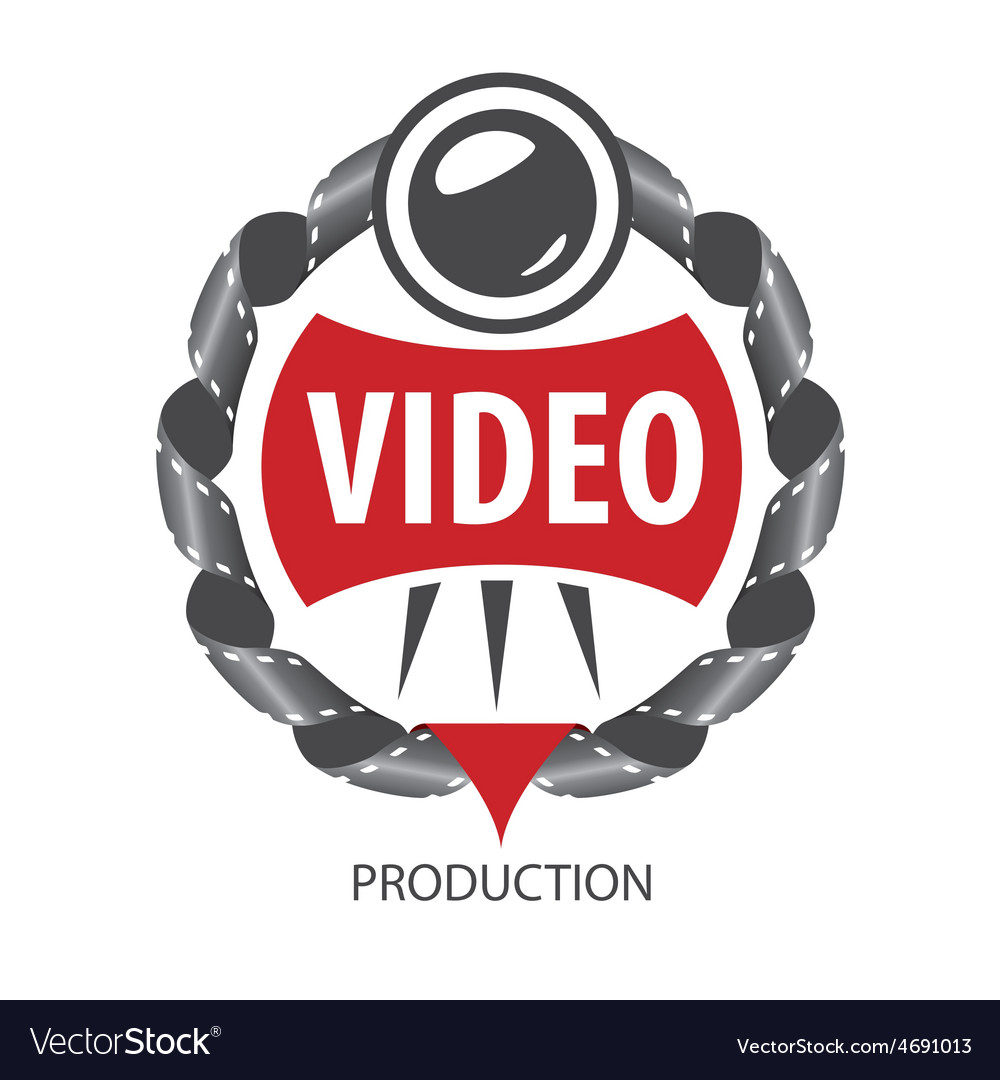 Logo emblem of the lens and videotapes vector | Price: 1 Credit (USD $1)