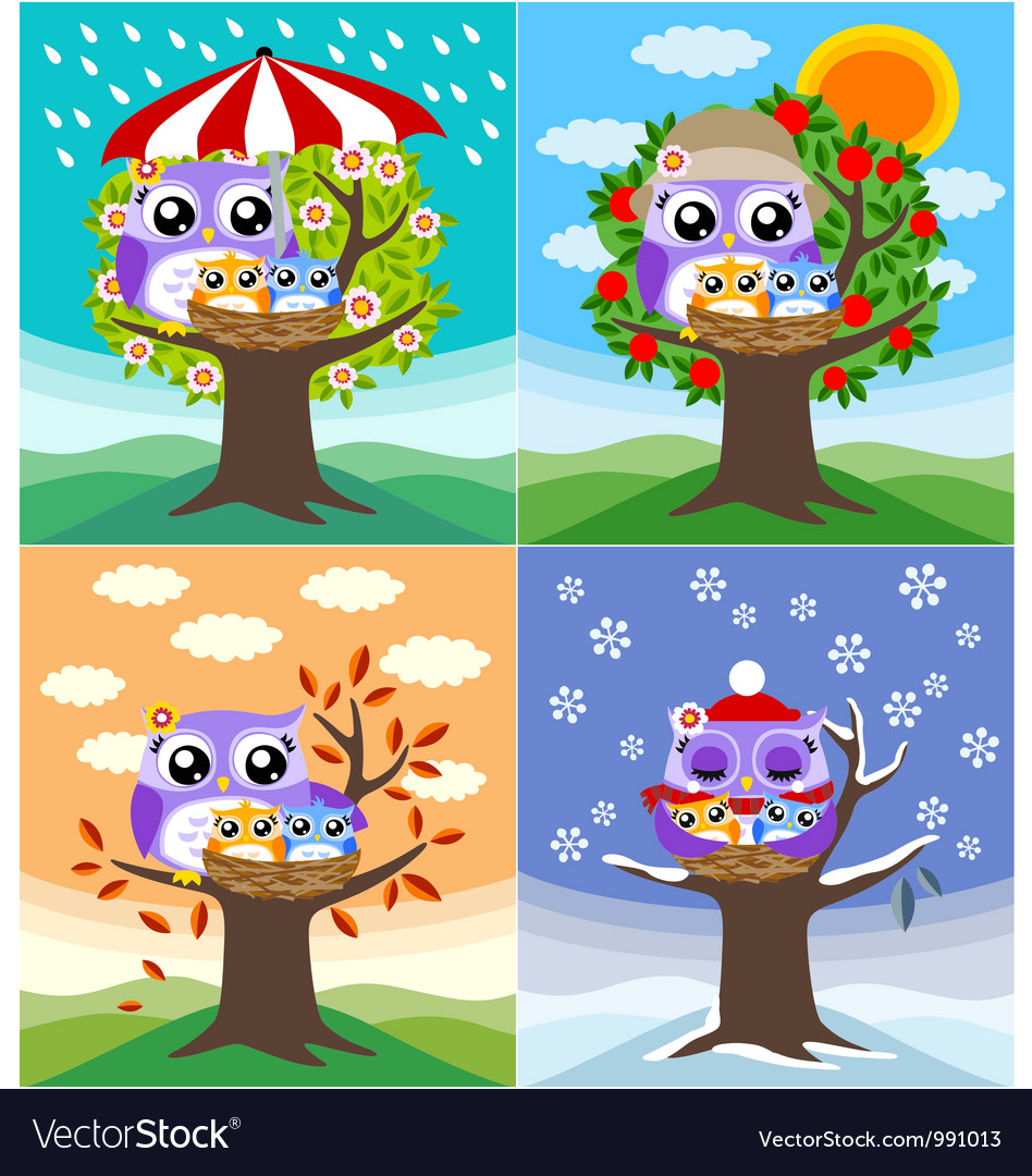 Owl mother love vector | Price: 3 Credit (USD $3)