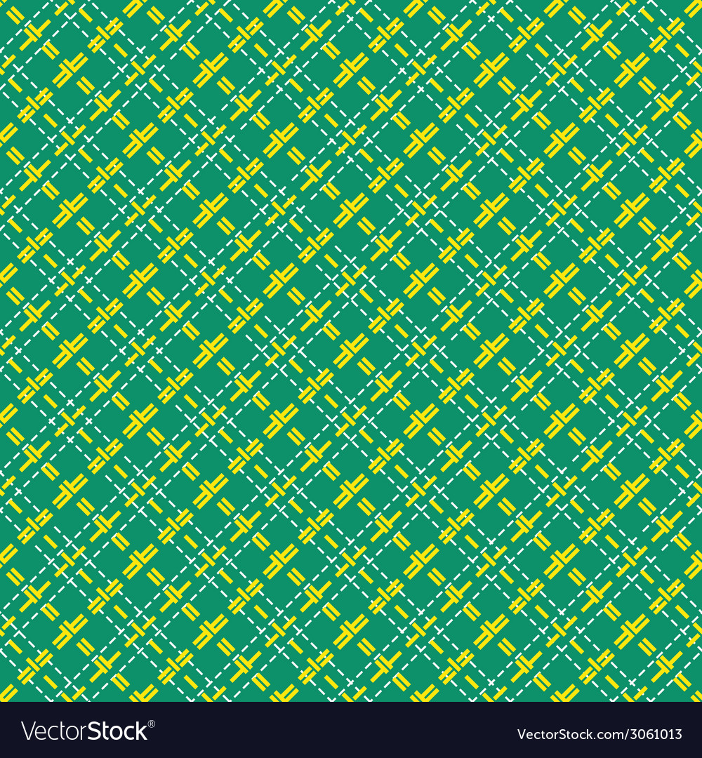 Seamless mesh diagonal pattern over green vector | Price: 1 Credit (USD $1)