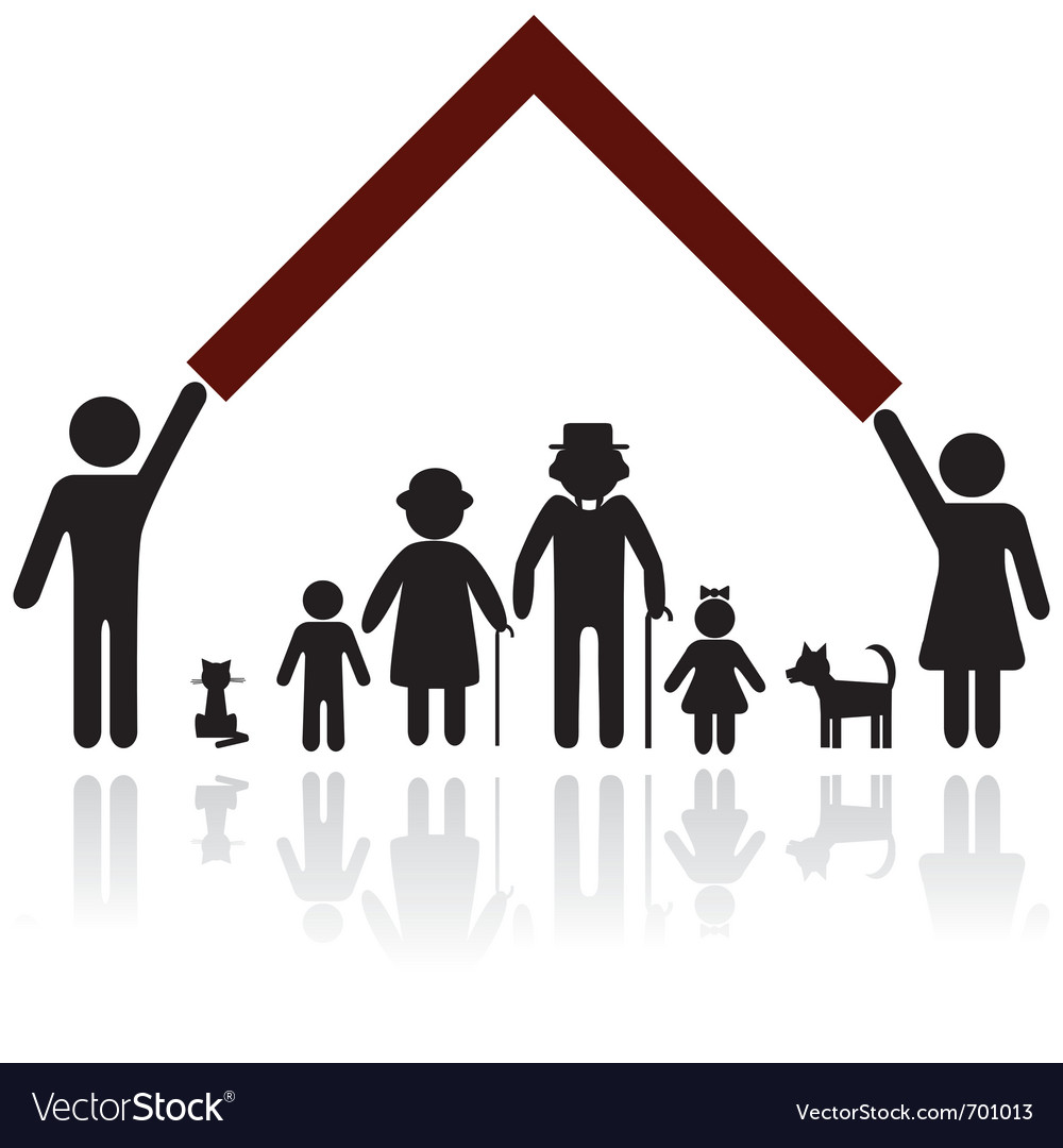 Silhouettes of family vector | Price: 1 Credit (USD $1)