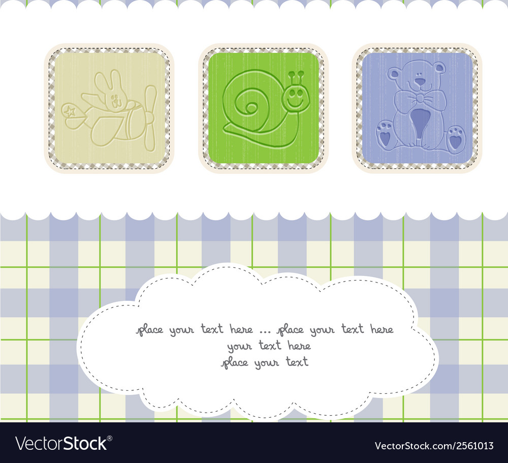 Welcome the new baby card vector | Price: 1 Credit (USD $1)