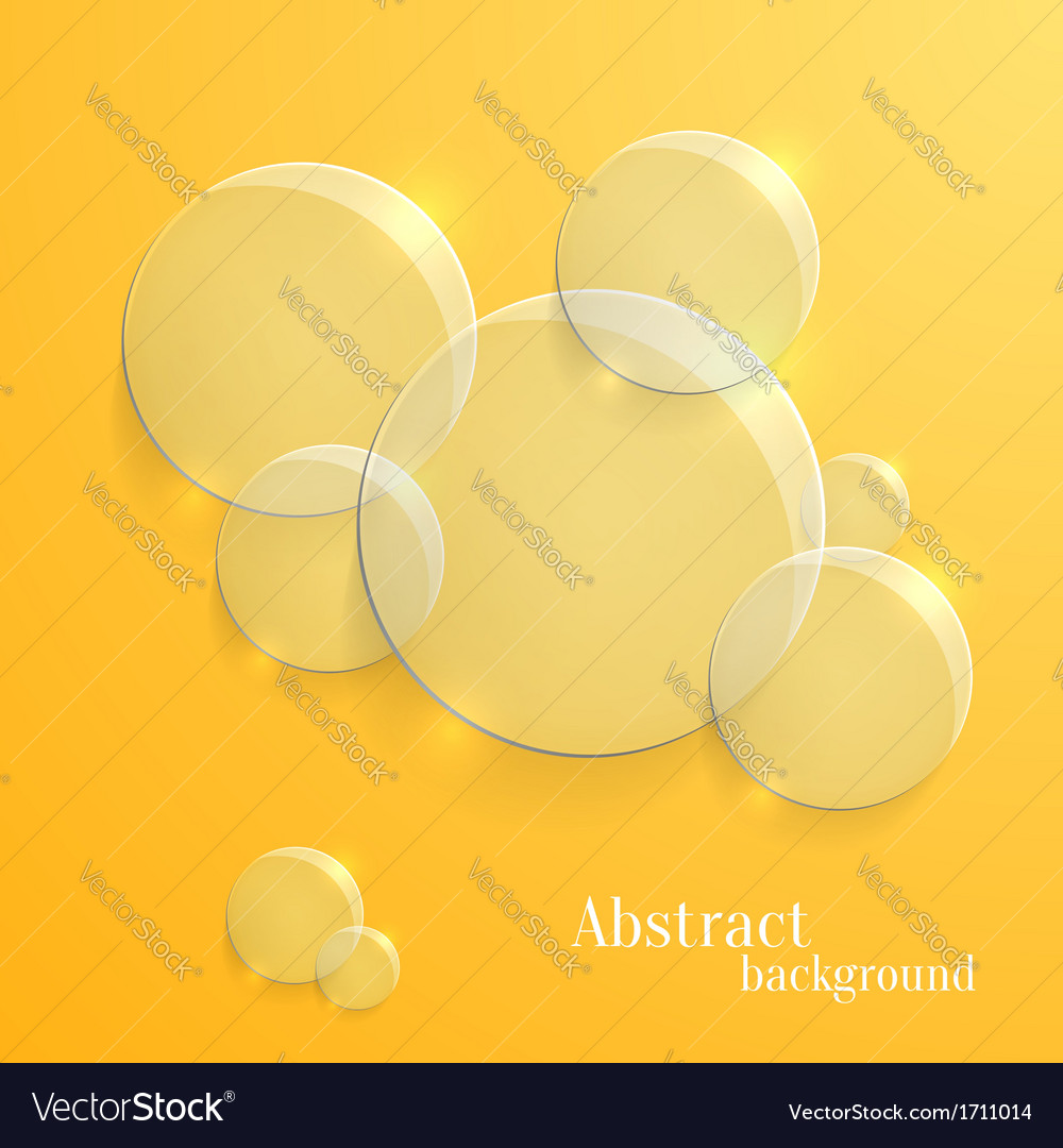 Abstract background with glass glossy circles vector | Price: 1 Credit (USD $1)