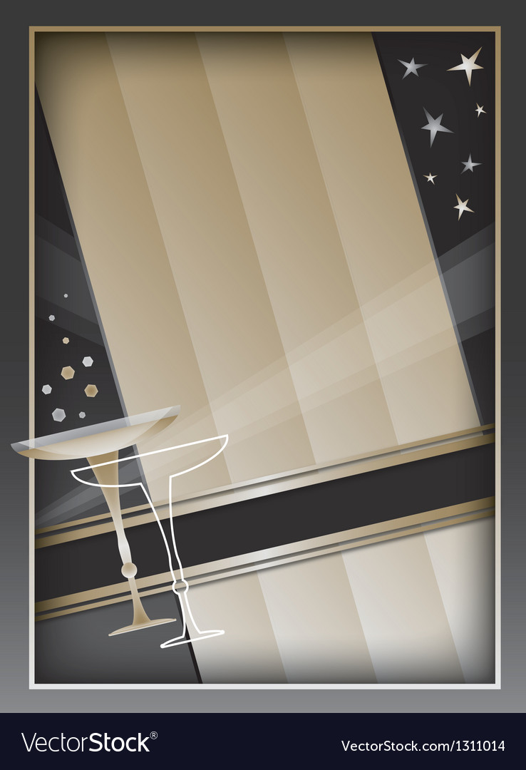 Art deco background and frame vector | Price: 1 Credit (USD $1)