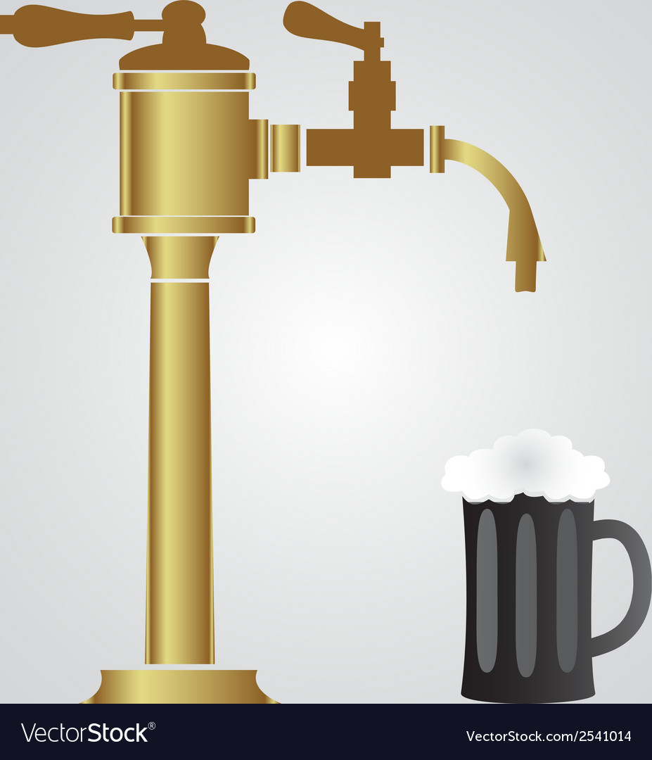 Bar faucer and glass of beer eps10 vector | Price: 1 Credit (USD $1)